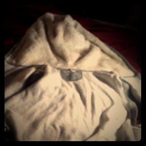 Sleeveless fur hoodie